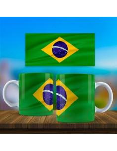 Taza bandera Brasil