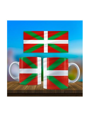 Taza bandera Ikurriña