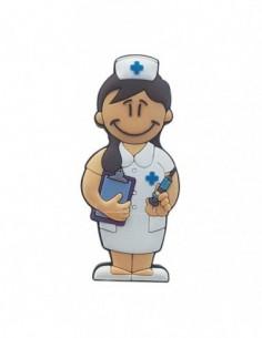 Pendrive Enfermera Castaña